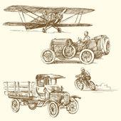 Vintage vehicles — Stock Vector