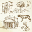 Roman architecture - Stockvectorbeeld
