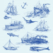 Nautical set — Stock Vector #13807944