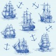 Nautical set — Stock Vector #13807992