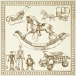 Vector de stock : Antique toys