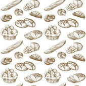Bread - seamless pattern — Stockvektor