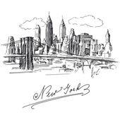 New york — Vecteur