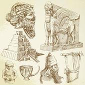 Arte da mesopotâmia — Vetorial Stock