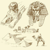 Egypt - hand drawn collection — Vector de stock