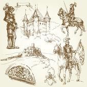 Coleção medieval — Vetorial Stock