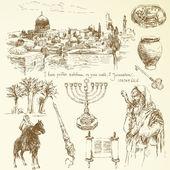 Jerusalem collection — Stock Vector