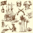 Royalty-Free Stock Vector Image: Pirates - hand drawn collection