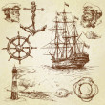 Nautical elements — Stock Vector