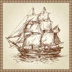 Sailing ship — Stock Vector