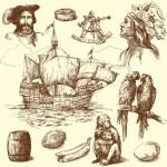 Nautical collection — Stock Vector #13886419