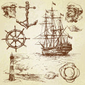 Nautical elements — Vector de stock
