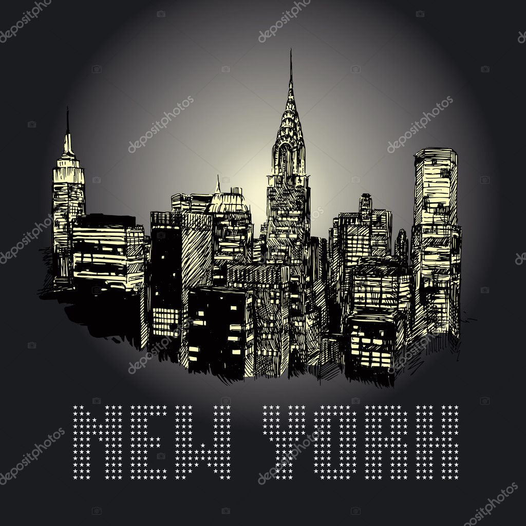 New york - original drawing  — Stock Vector #13886077