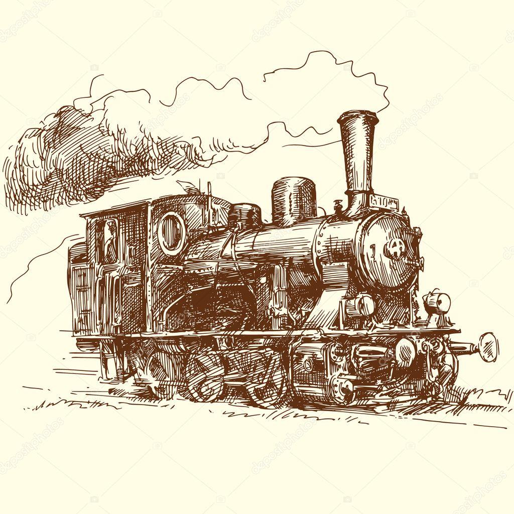 蒸汽机车 — 矢量图片作者 canicula
