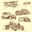 Stock vektor: Old vehicles