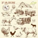 Farm collection-handmade drawing — Stock Vector #14145778