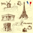France-original hand drawn collection — Stock Vector #14145852