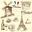 Stock Vector: France-original hand drawn collection