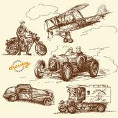 Viejo tiempos-original mano dibujado colección — Vector de stock