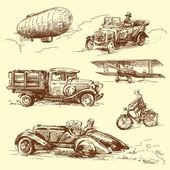旧车 — 图库矢量图片