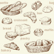 Stockvektor : Bakery seamless pattern