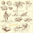 sommar set - original hand dras illustration — Stockvektor  #14152203