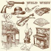 Wild west — Stock Vector