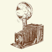 Hand drawn old camera — Stock Vector