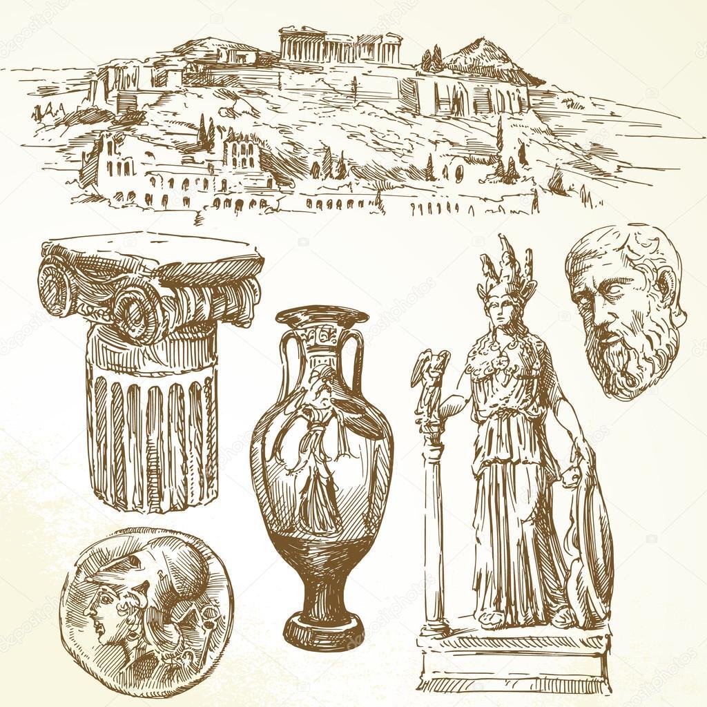 古希腊 — 图库矢量图像08