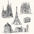 Travel over Europe - Imagen vectorial