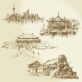 Shanghai - eredità cinese — Vettoriale Stock