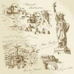 Постер, плакат: American monuments