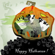 Stock Vector: Halloween vector card 7