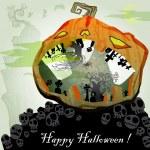 Halloween vector card 7 — Stock Vector