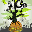 Vettoriale Stock : Halloween vector card 6