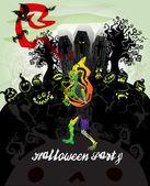 Halloween vector card 5 — Stock Vector