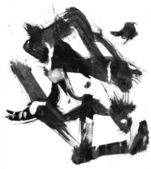 Ink stain on torn paper — Stock Photo
