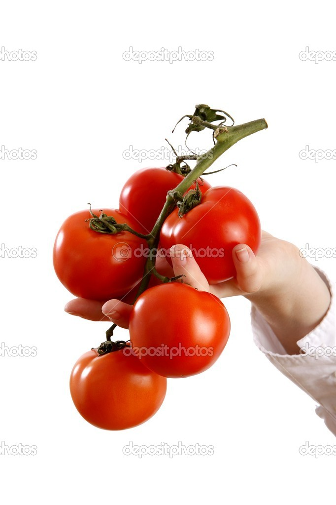 Woman holding tomatoes  — Stock Photo #14755315