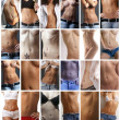 Female abdomen collage — Stock Photo