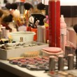 Makeup in the dressing room - 图库照片