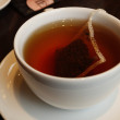 Cup with tea bag - Stock Photo