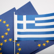 Greek and european flag - Stockfoto