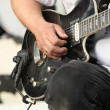 Guitarist performing — Stock Photo