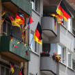 Germany flag on balcony - Stock Photo