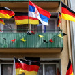 Germany flag on balcony — Stock Photo