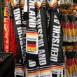 Attributes of German fans — Stock Photo