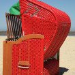 Deck chair on the beach — Stock Photo
