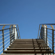 Metal ladder up - Stock Photo