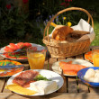 Breakfast in nature - Stock Photo