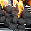 Barbecue fire - Stock Photo